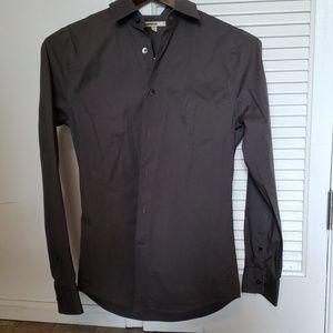 Dark Gray Express 1MXDress Shirt